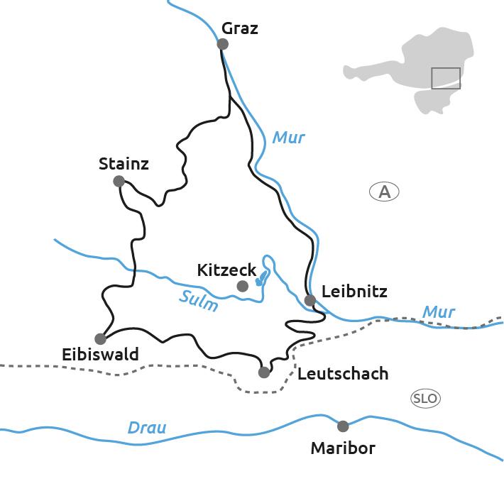 Steiermark Karte Flüsse.Steirische Weinstraße 8 Tage Tour